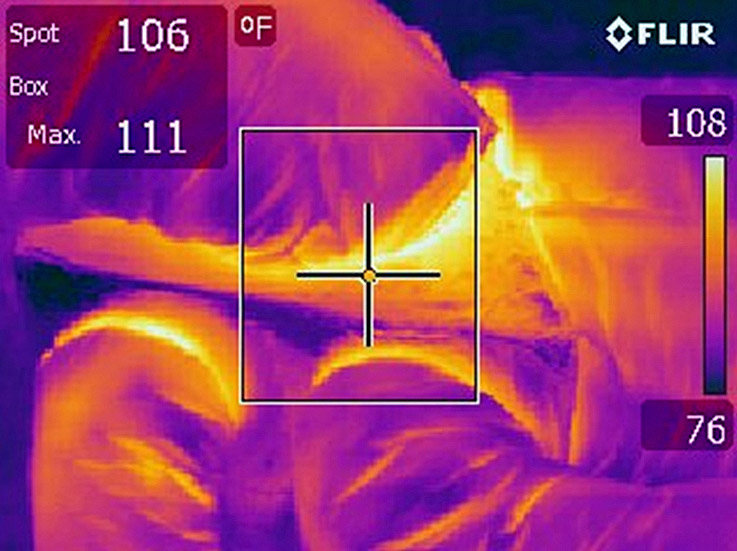 infrared image of hvac ducts